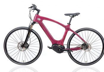 Електрически велосипед от дърво
